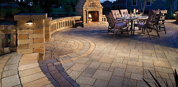 Patio Designs Ideas 525 sq ft of colorful pavers and tumbled patio block together create this dreamy Backyard Stone Patio Ideas Patio Design Ideas Patio Designs Ideas Concrete Patio Pavers Wallpaper Cheap Patio