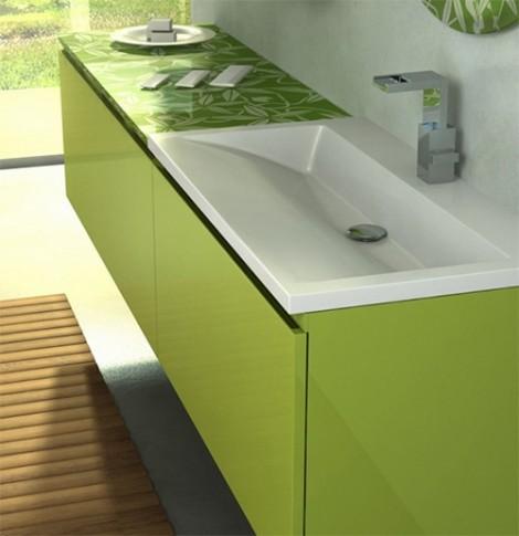 furniture kamar mandi warna hijau