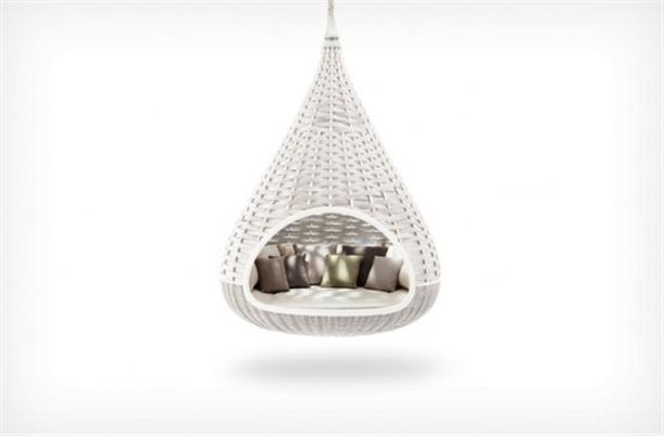Superb Hanging Chair Lounge White Colored