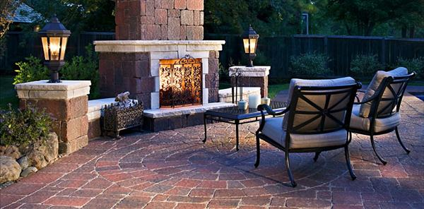 Wonderful ... Patio Designs With Fireplace