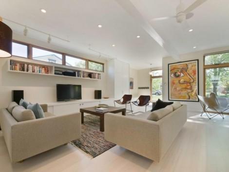 Rumah Modern dengan Dinding Luar Bermotif Kayu 11