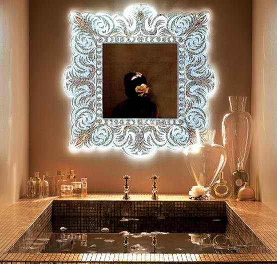 Http Www Ayanahouse Com 2013 09 Light Glass Mosaic Wall Mirror Html