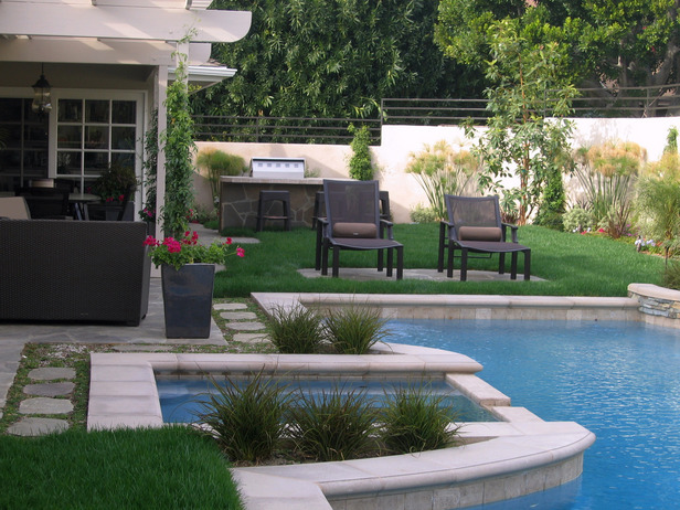 Decorating swimming pool entertainment areas ayanahouse for Pool area ideas
